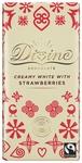 DIVINE White Chocolate & Strawberries 90 gram